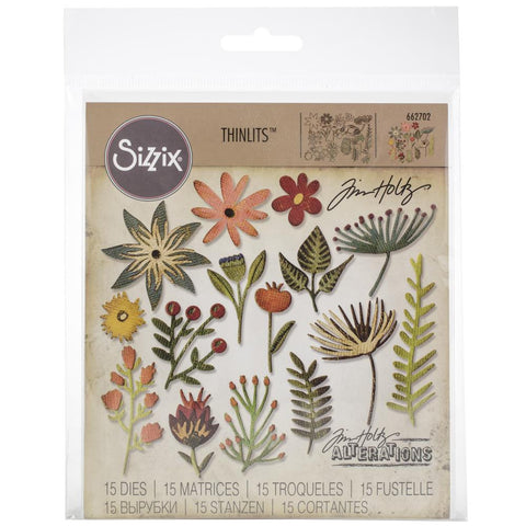 Tim Holtz Thinlits - Die Cutting Set by Sizzix - Funky Florals 3