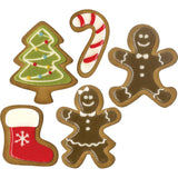samples of Fresh Baked (set 2 - Gingerbread Peoples, Stocking, Tree, Candy Cane) ... by Tim Holtz and Sizzix