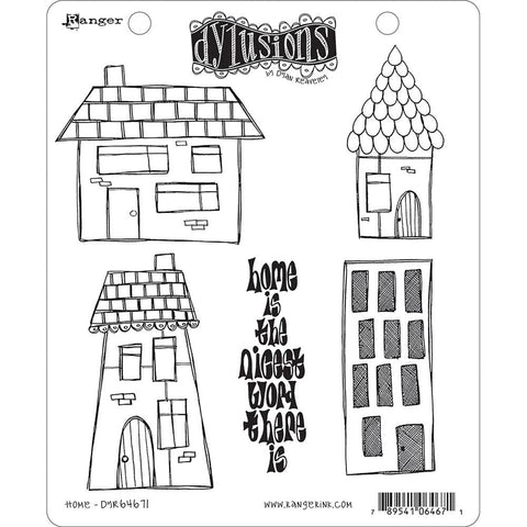 Dylusions Dyan Reaveley Cling Rubber Stamps - Home - by Stampers Anonymous
