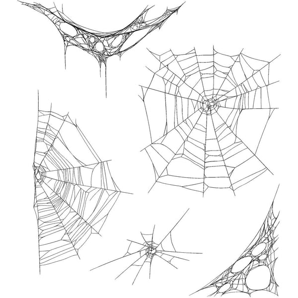 Tangled Webs ... Cling Rubber Stamp Set by Tim Holtz - 5 Designs