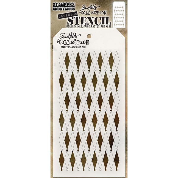 Shifter Stencil by Tim Holtz, Diamonds