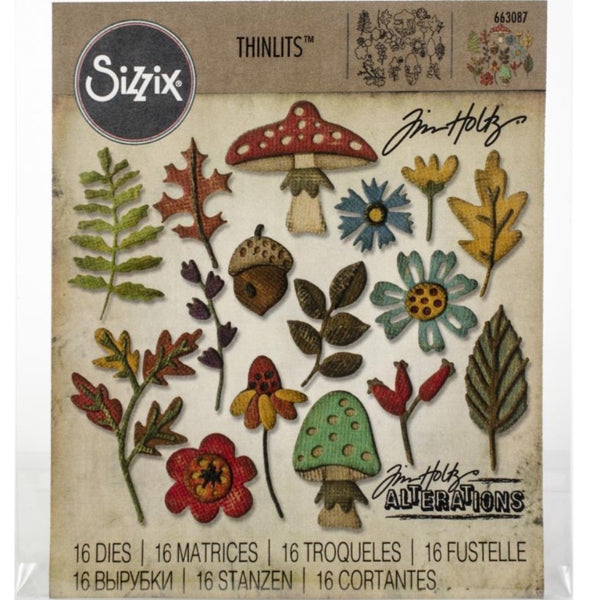 Tim Holtz Thinlits - Die Cutting Set by Sizzix - Funky Foliage