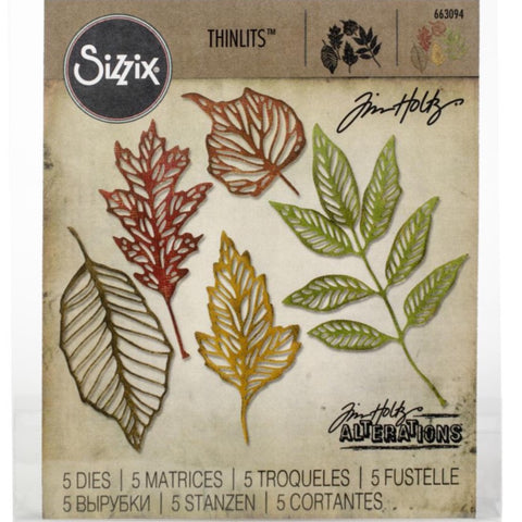 Tim Holtz Thinlits - Die Cutting Set by Sizzix - Skeleton Leaves