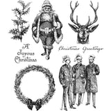 Yuletide ... set of 6 cling rubber stamps by Tim Holtz
