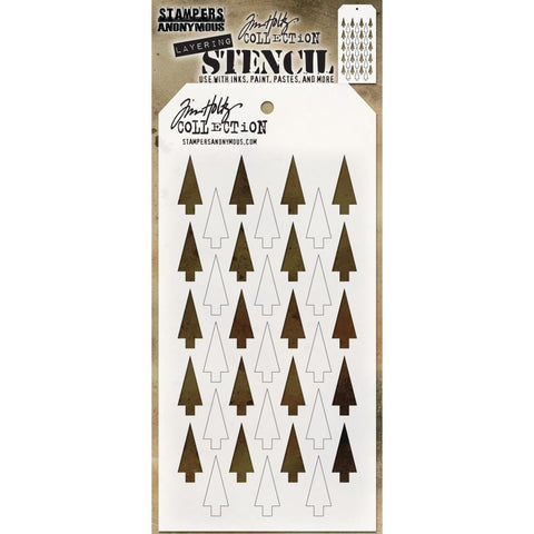 Shifter Stencil Tree or Arrows ... layering stencil by Tim Holtz THS113