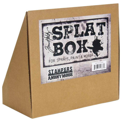 Tim Holtz Splat Box showing the back and label