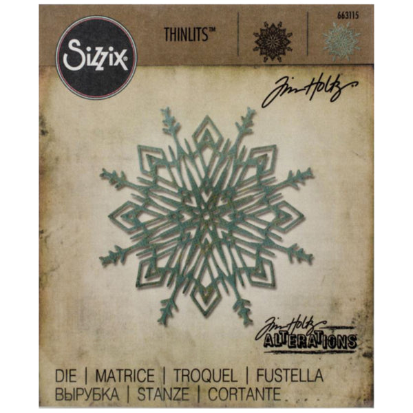 Sizzix Tim Holtz Flurry 4 - die cutting template