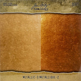 Tim Holtz Idea-Ology Surfaces - Kraft Stock 8x8 - Metallic Gold and Copper