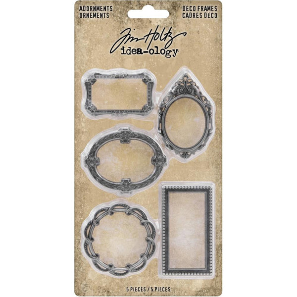 Tim Holtz Idea-Ology Adornments pack of 5 Metal Deco Frames