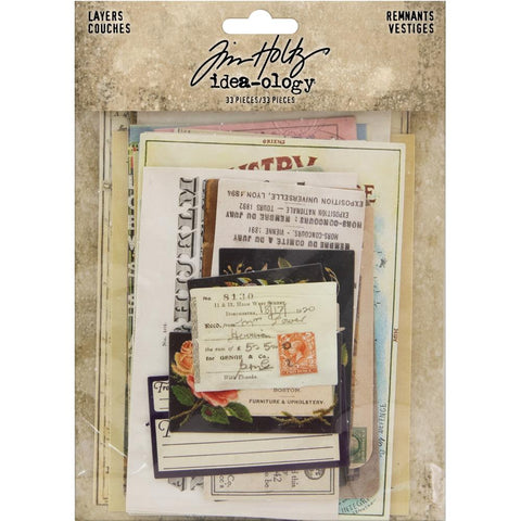 Tim Holtz Idea-Ology Layers - Remnants ... an eclectic collection of printed memorabilia