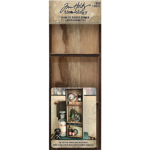 Tim Holtz Idea-Ology - Wooden Vignette Drawer
