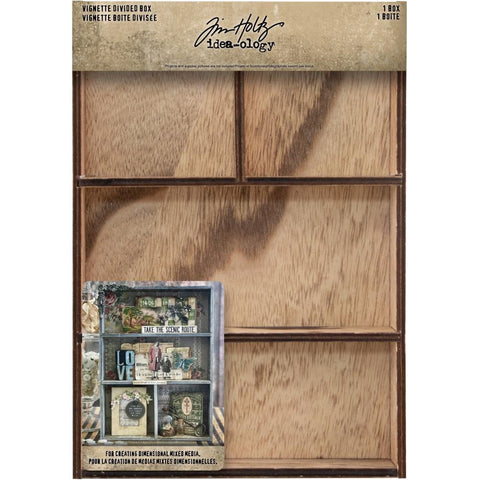 Tim Holtz Idea-Ology - Wooden Vignette Divided Box