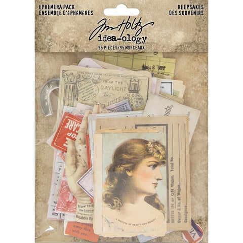 Tim Holtz Idea-Ology Ephemera ... Keepsakes - an eclectic collection of printed memorabilia