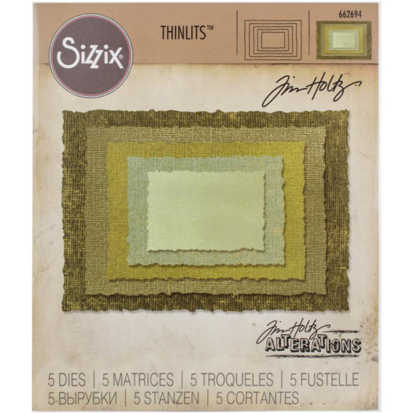 Tim Holtz Thinlits Die Cutting Set by Sizzix - Stacked Deckle