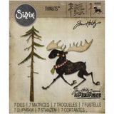 Merry Moose Thinlits Die Cutting Templates by Tim Holtz and Sizzix (no. 663103)