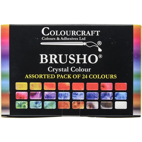 Brusho Colourcraft watercolour paints pigments box of 24 colours