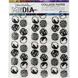Dina Wakley Media Collage Paper with Printed Backgrounds at Art by Jenny