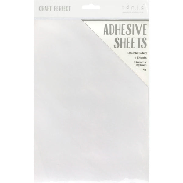 Craft Perfect Adhesive Sheets ... 5 (five) sheets, A4 (21cm x 29.7cm) - by Tonic Studios
