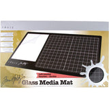 Tim Holtz Glass Media Mat - for Left Handed Artists - by Tonic Studio