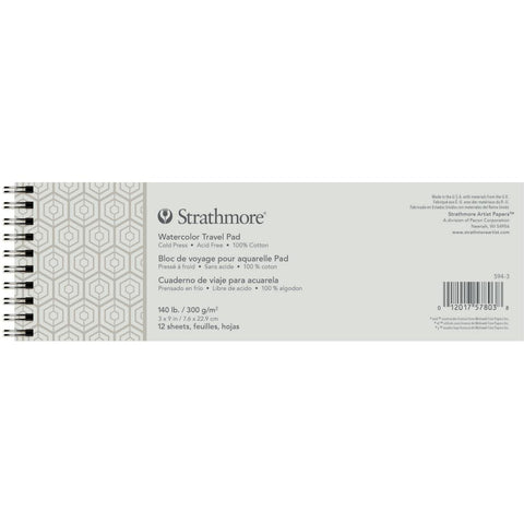 Strathmore Artist paper for Watercolour on the go, landscape wire binding