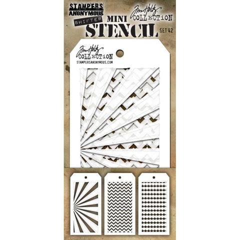 Tim Holtz Stencils for Layering and Creating Unique Patterns