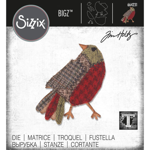Tim Holtz Bigz Die Cutting Template by Sizzix - Patchwork Bird