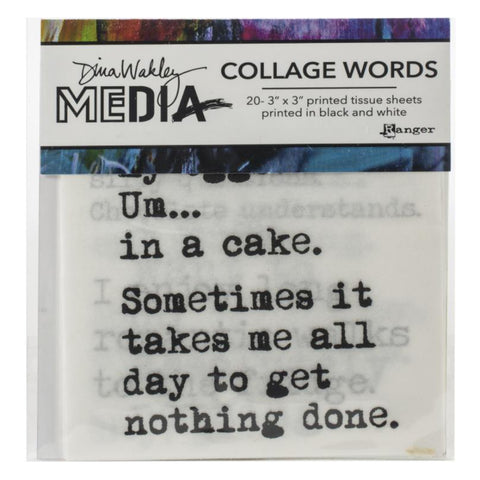 Dina Wakley Media Collage Paper with Printed Words and Quotes at Art by Jenny