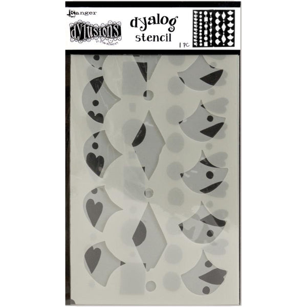 Dyalog Border It Too by Dyan Reaveley of Dylusions - 4 stencil designs in one