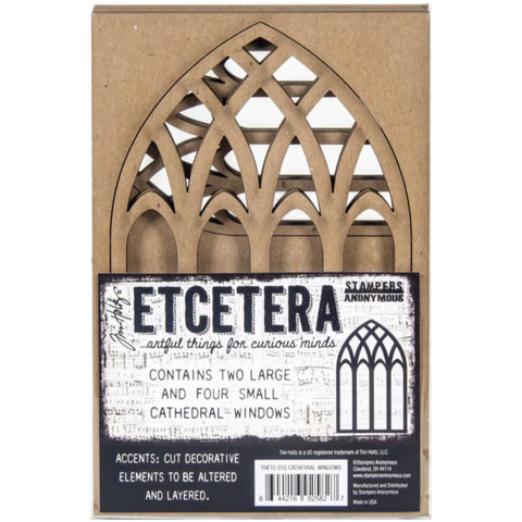 Tim Holtz Etcetera Art Board Thickboard Cathedral Windows