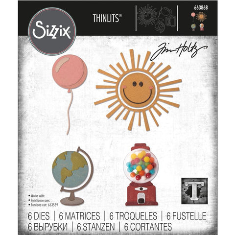 Tim Holtz Thinlits Die Cutting Set by Sizzix - Circle Play