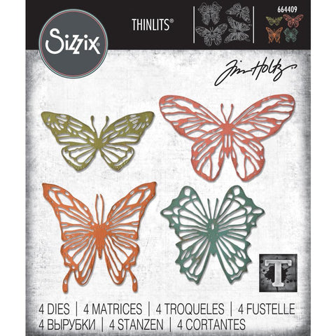 Scribbly Butterflies - Tim Holtz Thinlits Die Cutting Set by Sizzix