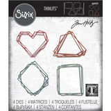 Tim Holtz Thinlits Die Cutting Set by Sizzix - Geo Frames