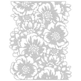 template for the Tim Holtz Thinlits Die Cutting Set by Sizzix - Bouquet 664418