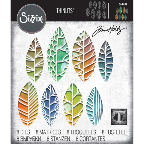 Tim Holtz Thinlits Die Cutting Set by Sizzix - Cut Out Leaves