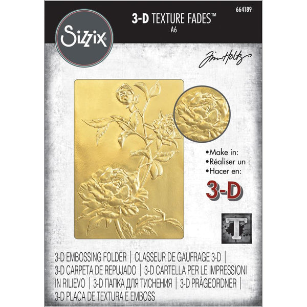 Tim Holtz Texture Fades 3D Embossing Folder by Sizzix