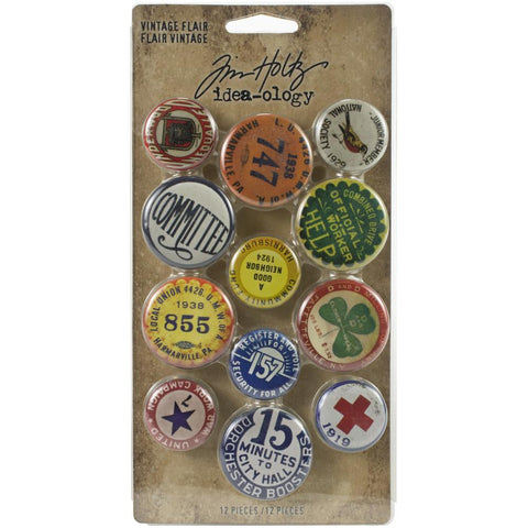 Tim Holtz Idea-Ology - Vintage Flair - 12 Pieces