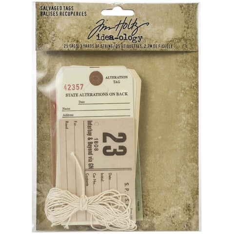 Tim Holtz Idea-Ology - Salvaged Tags - 25 Tags