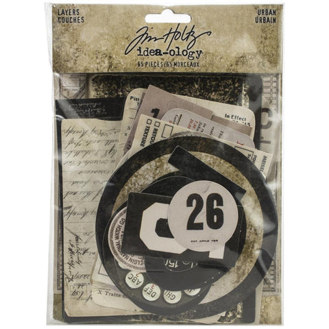 Tim Holtz Idea-Ology - Layers Die Cuts - Urban - 65 Pieces - NEW!