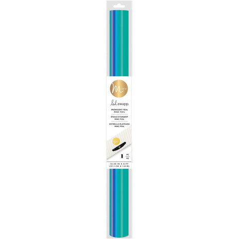 Heidi Swapp - Minc Reactive Foil 12 inch wide roll of Iridescent Teal Blue-Green