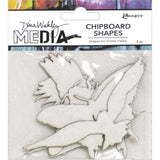 Flying - Chipboard Shapes by Dina Wakley Media at Art by Jenny in Australia