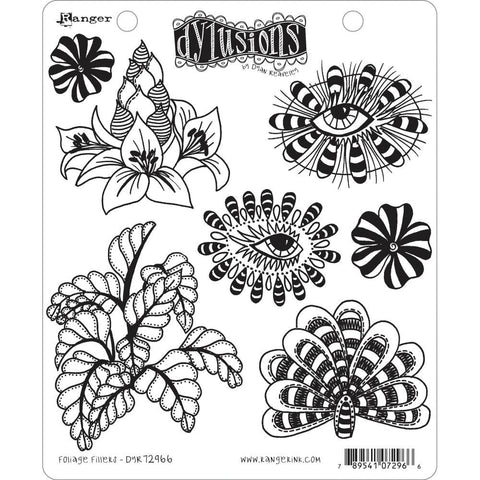 Foliage Fillers ... rubber stamp set from Dylusions by Dyan Reaveley