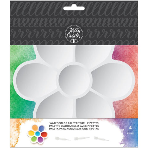 Kelly Creates - Paint Palette with Pipettes - 4 Pieces