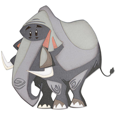 Tim Holtz Thinlits Colorize Dies by Sizzix - Clarence the Elephant