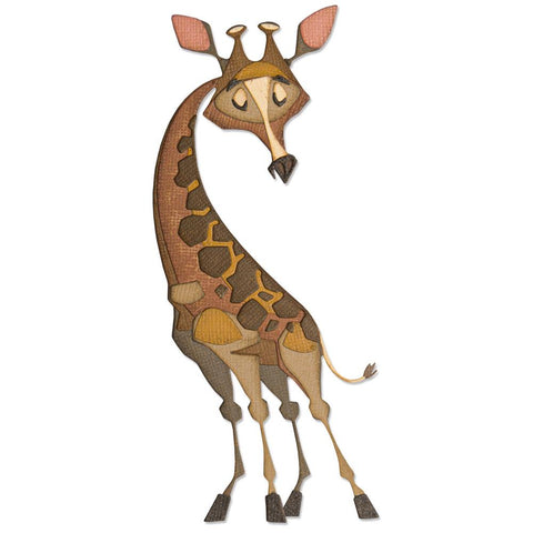 Tim Holtz Thinlits Colorize Dies by Sizzix - Gertrude the Giraffe