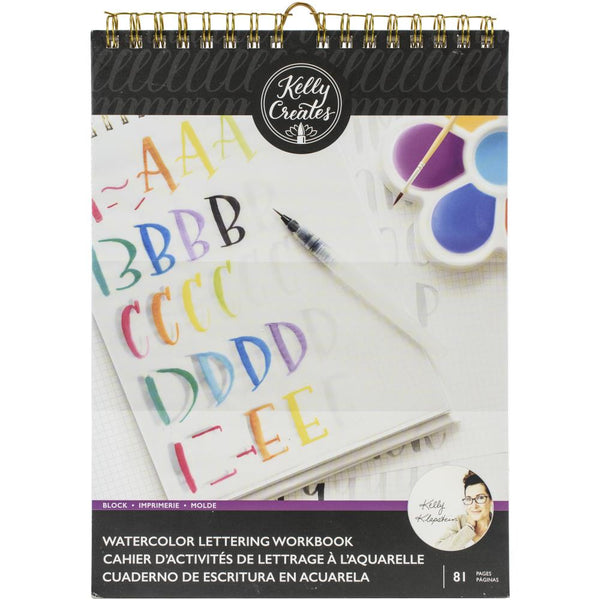 Block - Watercolour Brush Lettering Workbook ... by Kelly Creates