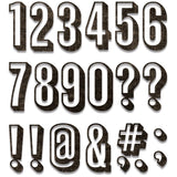 examples of Tim Holtz Thinlits Die Cutting Set by Sizzix - Alphanumeric Shadow Numbers