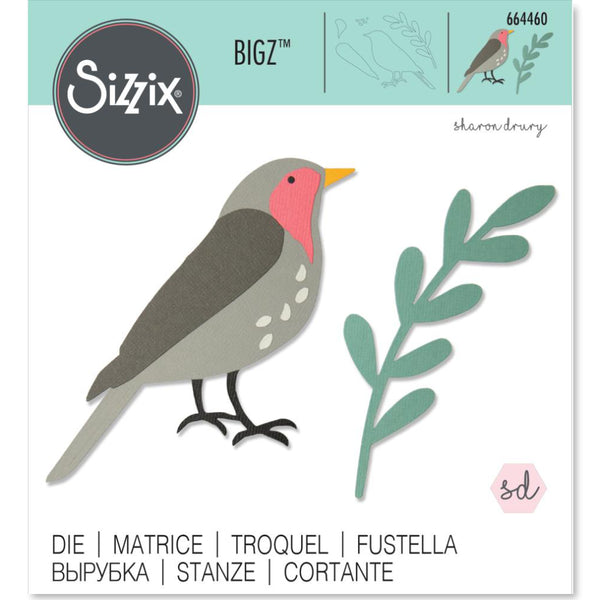 Sizzix Steel Bigz Die bird design by Sharon Drury