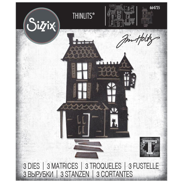 Tim Holtz Thinlits Die Cutting Set by Sizzix - Haunted House