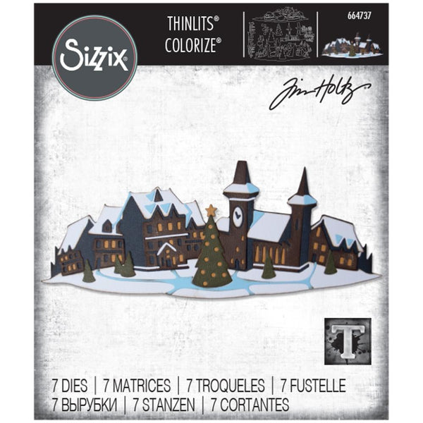 Tim Holtz Thinlits Colorize Dies by Sizzix - Holiday Village