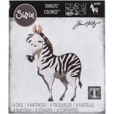 Tim Holtz Thinlits Colorize Dies by Sizzix - Zebra